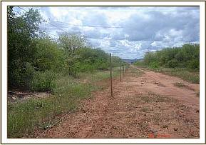 The Northern area fence line