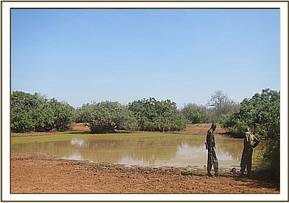 Team members on patrol at some of the waterholes