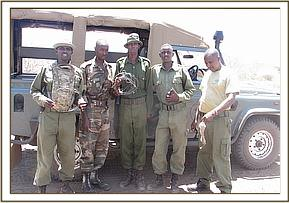 The Anti-poaching team
