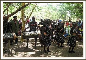 Traditional dancing at the baraza