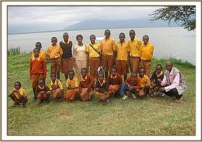 Maadakini primary school at Lake Jipe