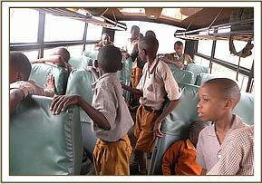 Maktau Primary School on a game drive