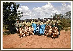 DSWT desnaring team members and British Army