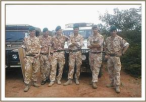 Some of the British Army team