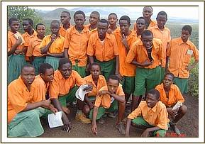 Students from Ziwani primary school