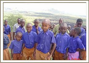 Some of the students from Msorongo primary