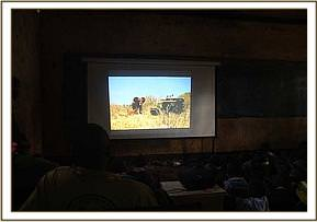 Video show at Kiboko priamry school