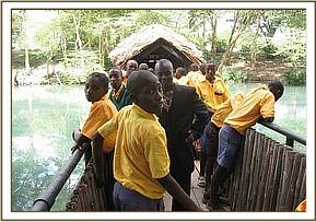 Enjoying Mzima Springs