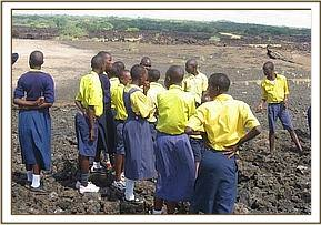 Shetani lava is visited by Kikwasuni primary