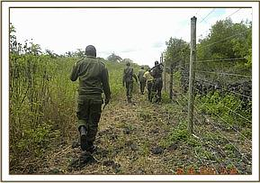 Fence patrol at Kikunduku