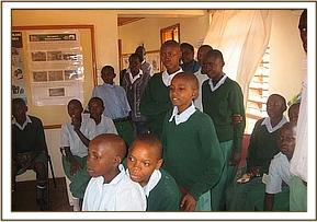 Miangeni students at the visitors center