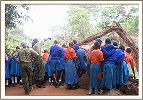 Muthingini students at Mzima springs