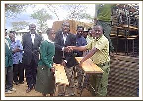 Nicodemus handing over the desks to the chairman