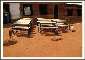 New desks after off-loading at kakithya primary