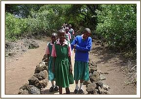 Soto primary pupils at Mzima springs