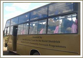 The DSWT community bus used for field trips