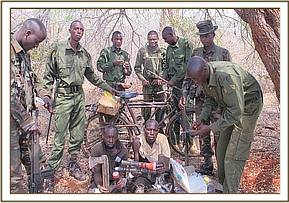 Arrested bush meat poachers,doing lamping
