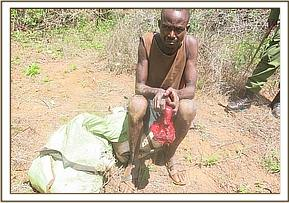 Poacher arrested with bush meat and hunting gear