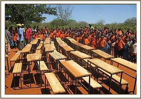 Kyusiani primary school desk donation