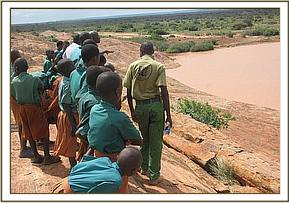 Marungu pupils visit the mudanda rock