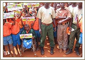 Gifts given to Iviani students by DSWT