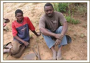 Two of the arrested charcoal burners