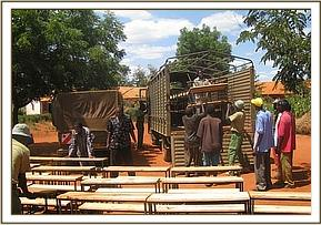 Kyusiani primary school desks presentation