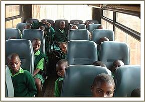Kitheini primary on the bus during the field trip