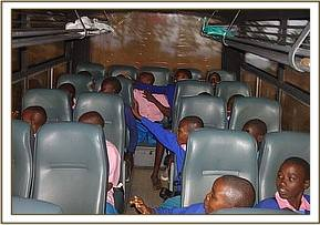 Nguluni primary on the bus during the field trip