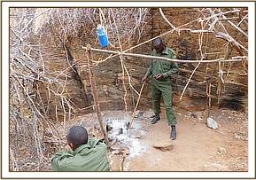 Poachers hideout discovered on top of yattas