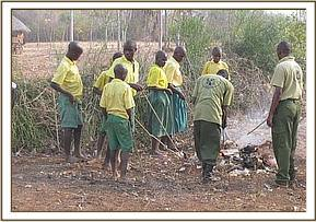 Four schools join hands to clean Kasaala