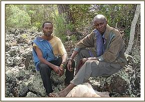 poachers and wood carvers near kenze