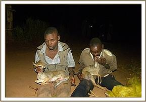 Arrested poachers at Mangelete