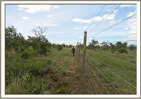 Checking Mukurulo fence
