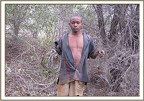 Arrested 17 year old poacher
