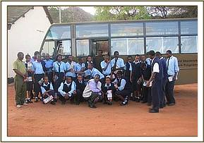 A group photo at the tsavo east education centre