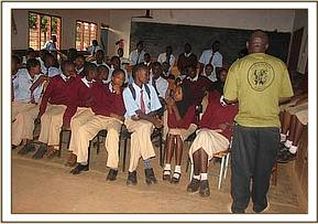 Mwangea students given a lecture