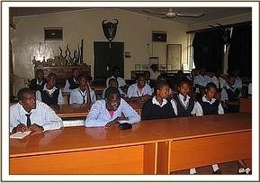 Mwatate high students at the education center