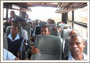 Mwatate high students during their game drive