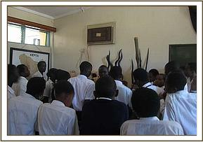 Ngami students get a lecture at education centre