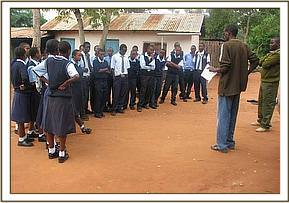 Mwatate high students briefed before depature