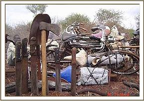 equipment & bicycles used by the charcoal burners