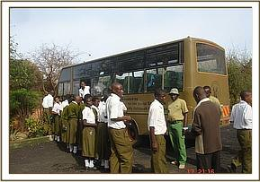 Athi Secondary Students on thier trip