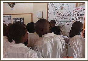 Athi students visit the information centre