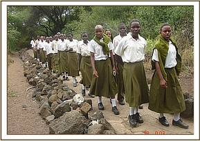 Students at Mzima Springs