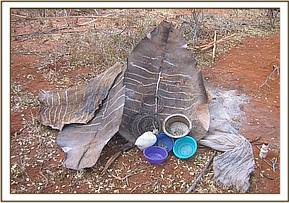 The paochers items and bush meat