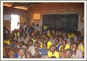 Kisou Primary school watching a film