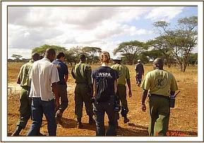 Patrolling the Ziwani area with WSPA staff
