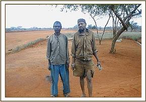 The two arrested poachers