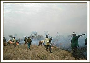 fire fighting at Ndii